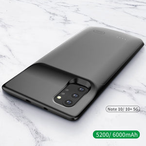6000mAh Battery Case for Samsung Galaxy Note 10 Plus Soft TPU Charging Phone Power Cover