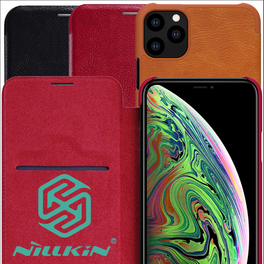 Nillkin Qin Book Flip Leather Case Cover For iPhone 11 Pro Max - MARI MAR SHOP