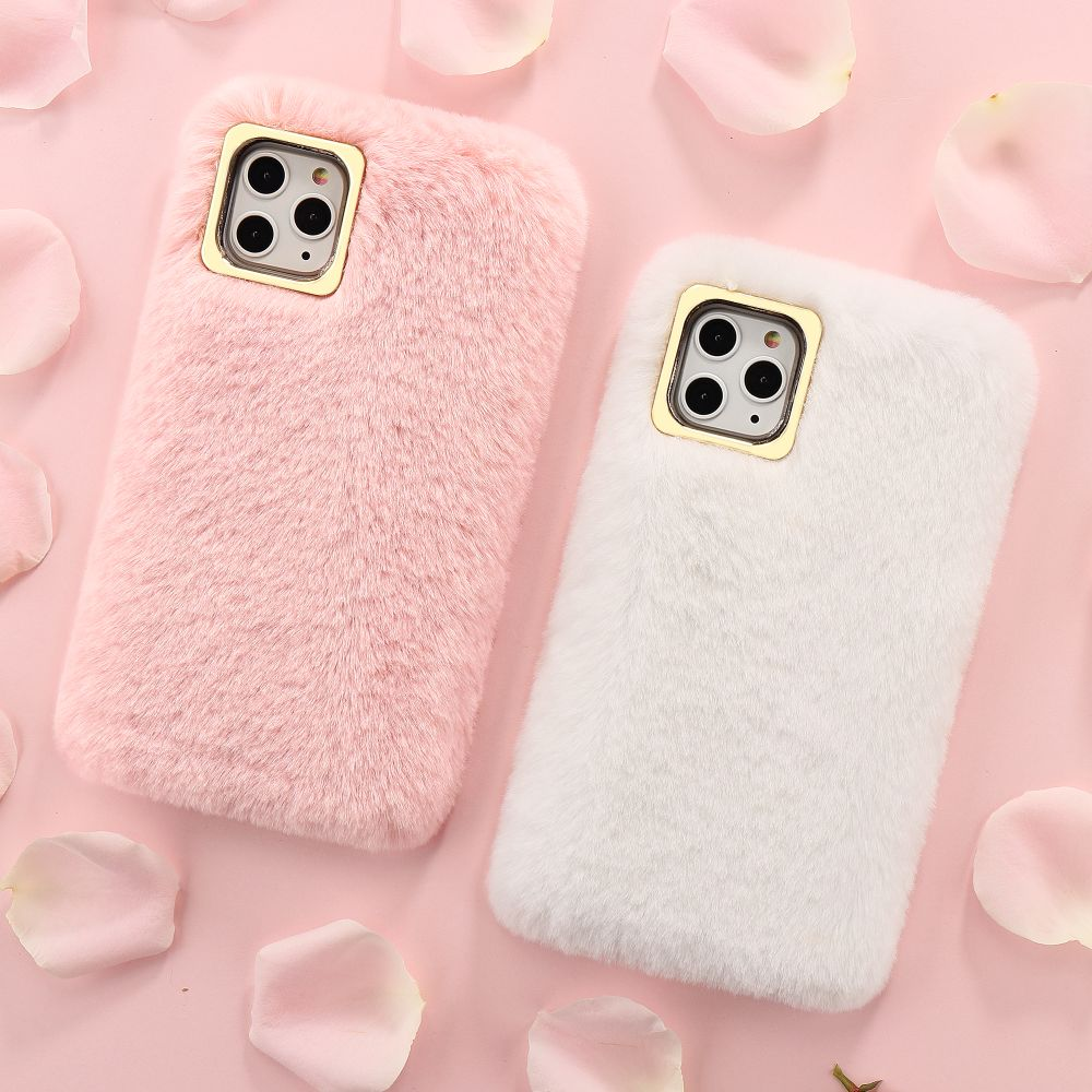 Luxury Cute Fur Fluffy Case For iPhone 11 Pro Max Xr Xs X 8 Plus 7 6S 6 5 5S SE - MARI MAR SHOP