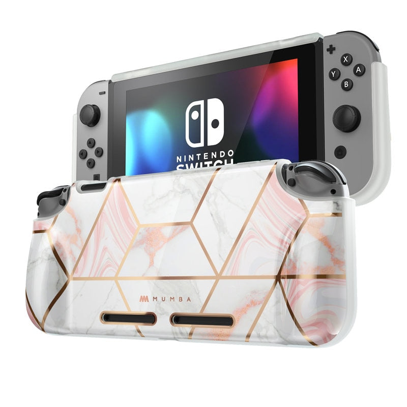 Power Soft TPU Grip Cover For Nintendo Switch Console with Shock-Absorption & Anti-Scratch Case - MARI MAR SHOP