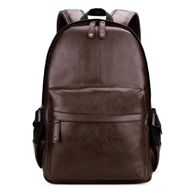 POLO Preppy Style Leather Backpack Bag - MARI MAR SHOP