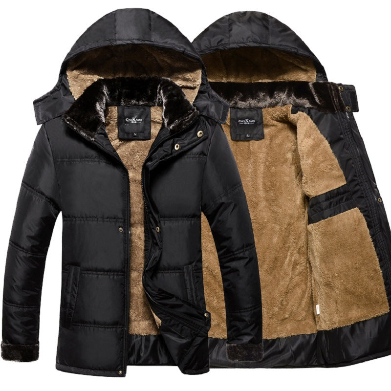 Thick Warm Winter Jacket Men Overc Fur Jackets Detachable (tm1) - MARI MAR SHOP