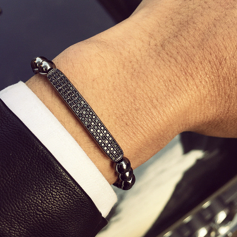 luxury zircons Bracelets Bar Bangle Men & Woman jewerly - MARI MAR SHOP