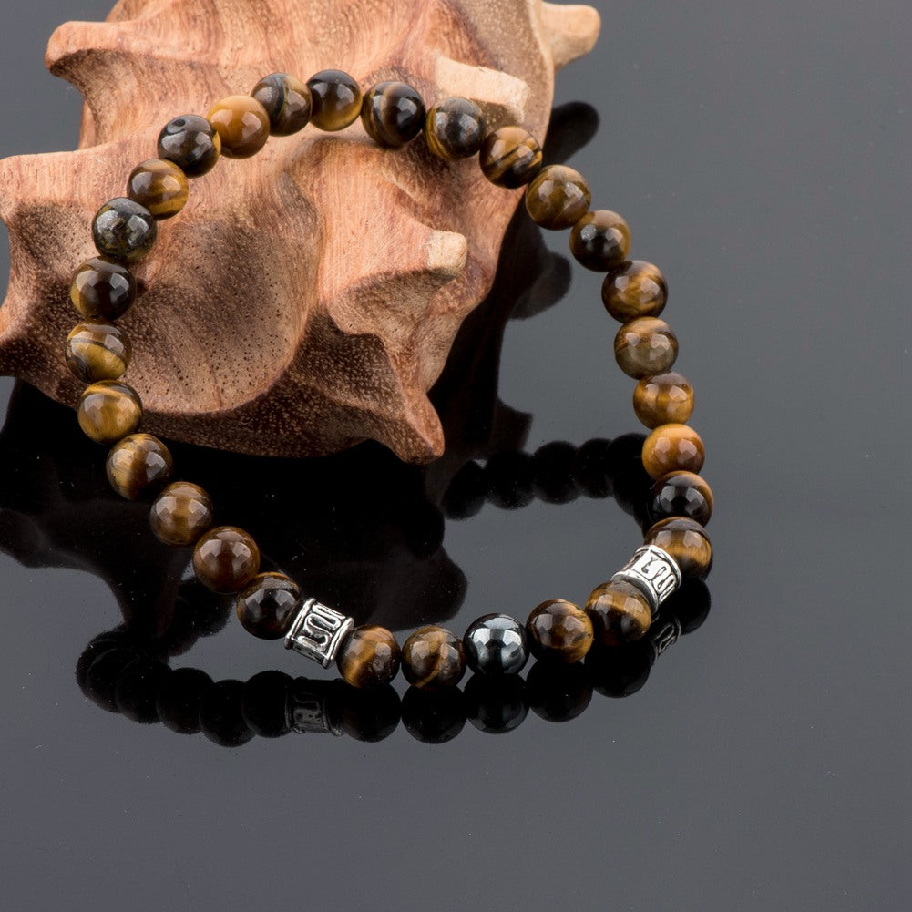 Tiger Eye Natural Beads Bracelets & Bangles  Jewelry - MARI MAR SHOP
