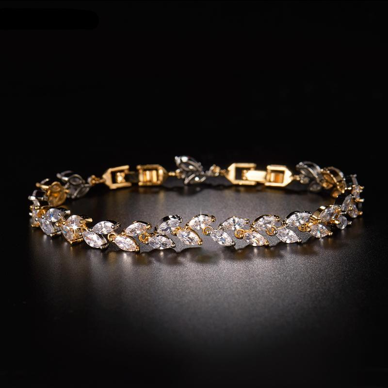 Crystal Cubic Zircon Bracelet for Women Wristband Jewelry - MARI MAR SHOP