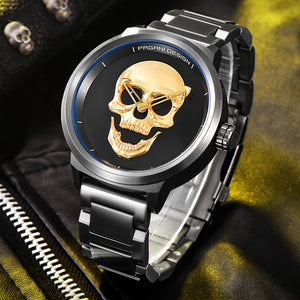 PAGANI DESIGN Punk 3D Skull Personality Retro Men's Watch - MARI MAR SHOP
