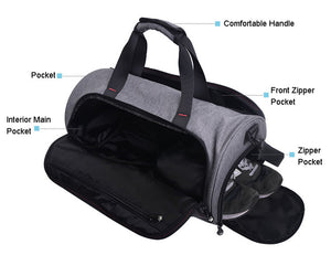 THE BEST Waterproof Sports Gym Bag for Women Men Fitness Yoga Crossbody  Bags With Shoes Storage - MARI MAR SHOP