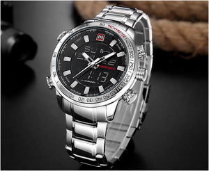 NAVIFORCE Men's Quartz Analog Watch Luxury  Waterproof Stainless Sport Wristwatch - MARI MAR SHOP