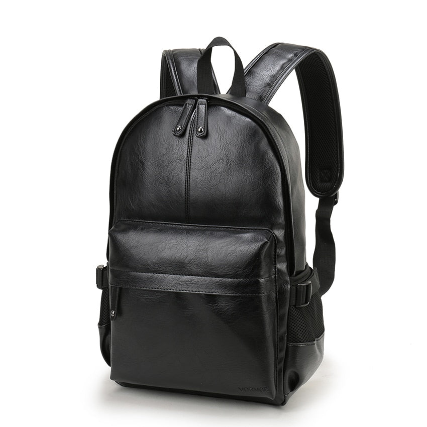 Preppy Style Leather School Backpack Shoulder Bag - MARI MAR SHOP