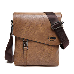 Waterproof Cow Split Leather Messenger Bag Business Crossbody Bags - MARI MAR SHOP