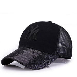 New Baseball Caps Women's Cap With Mesh Bone - MARI MAR SHOP