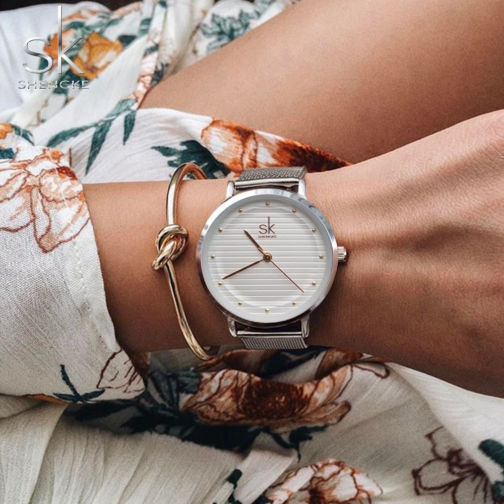 Women Stainless Steel Band Women Dress Watches Quartz-Watch - MARI MAR SHOP