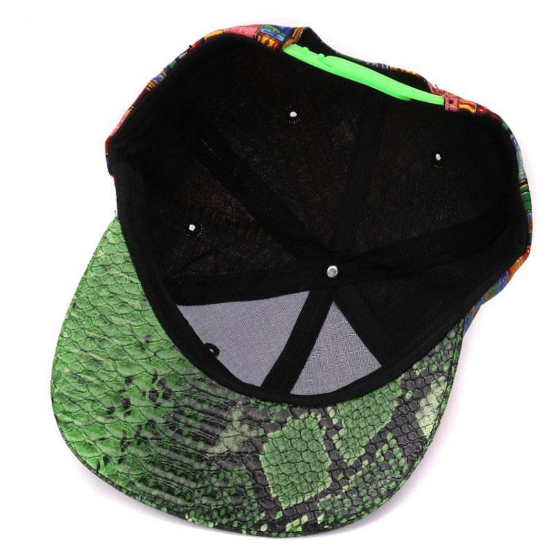 Leather Snake Skin Baseball Caps Flat Brim Bone Sports Hats - MARI MAR SHOP