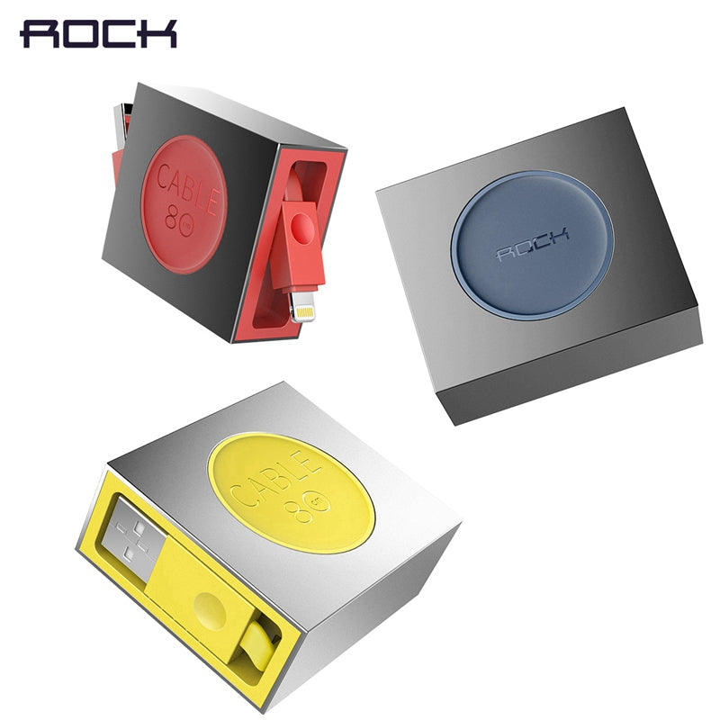 ROCK Retractable USB  Stretchable  Fast Charger Data Sync Cable For IPhone  Ipad - MARI MAR SHOP