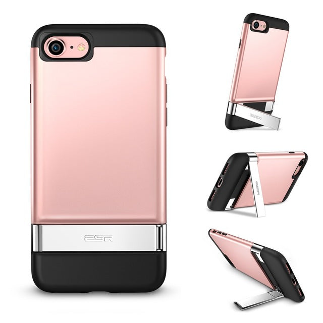 iPhone 8/8 Plus Vertical and Horizontal Standr Metal Cover Case - MARI MAR SHOP