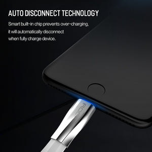 ROCK Led Light Fast Charging USB Cable for iPhone Charger Data Sync Cable - MARI MAR SHOP