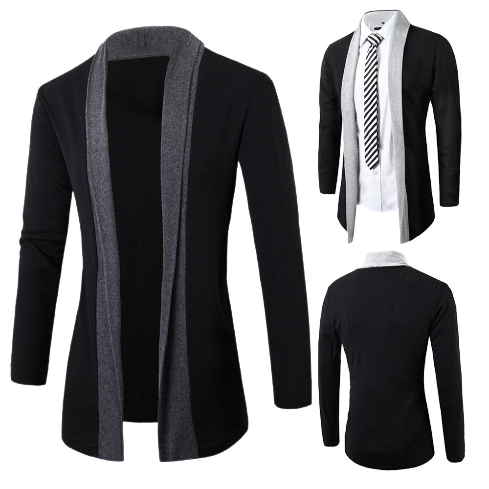 Men  Winter Jackets Slim Long Sleeve Cardigan Warm coats (tm1) - MARI MAR SHOP