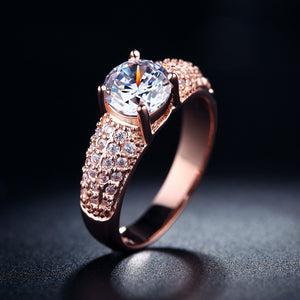 Luxury White & Gold Filled Rings For Women Wedding Jewelry - MARI MAR SHOP