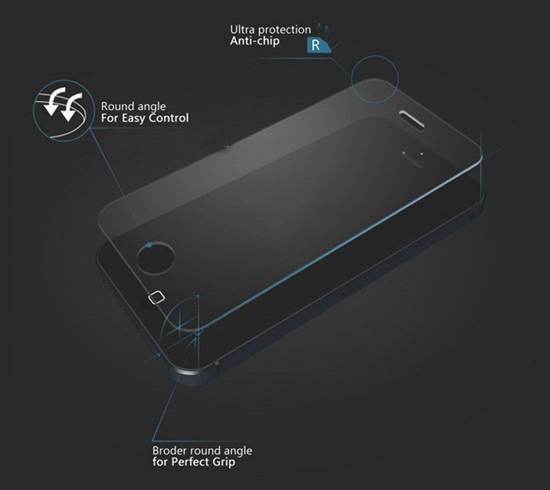 Tempered Glass Screen Protector For iPhone 5 5S 5c SE HD Toughened Protective Film + Cleaning Kit - MARI MAR SHOP