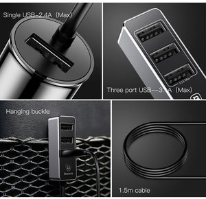 UNIVERSAL iPhone iPad Samsung Tablet  5V 5.5A  4 USB Car-Charger
