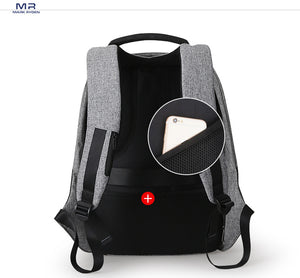 M.R Anti Thief Multifunction USB charging Bag 15inch - MARI MAR SHOP