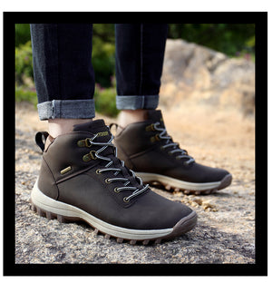 VANCAT Brand Men Boots Autumn Winter Mens Waterproof Leather Sneakers / Shoes - MARI MAR SHOP