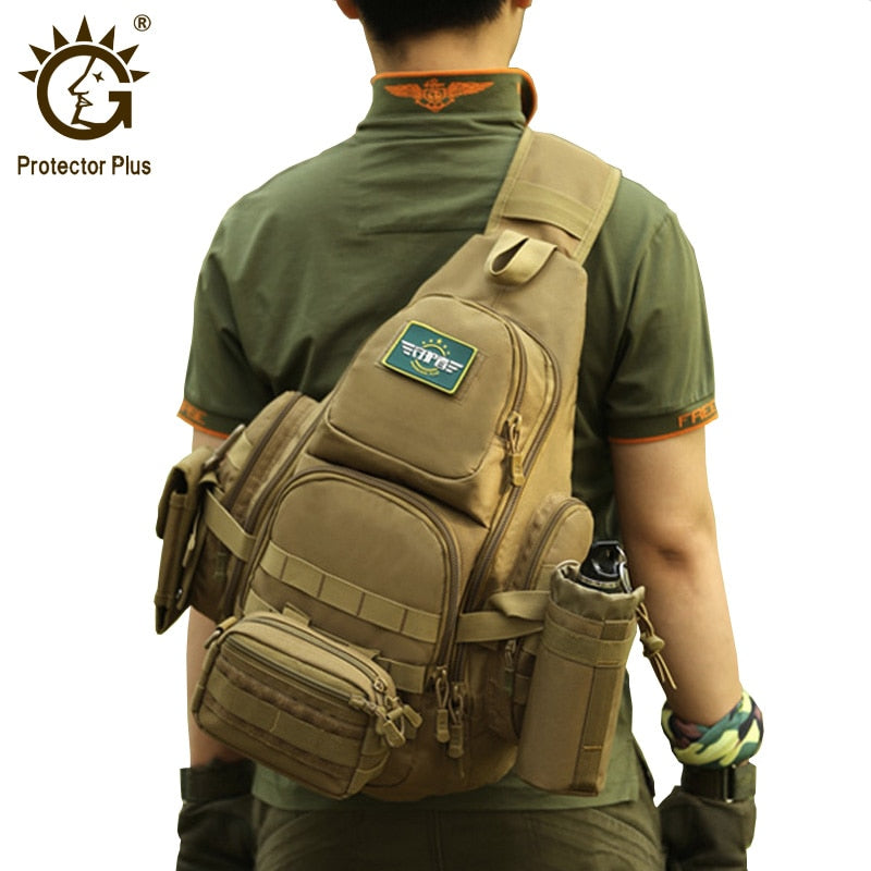 "Protector 20-35L14"" Laptop Waterproof Molle Military Backpack, Camping Hiking Hunting Sport Bag - MARI MAR SHOP"