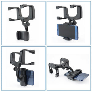 Universal 360 Degrees Car Rear view Mirror Mount  Phone Holder Stands (cs1) - MARI MAR SHOP