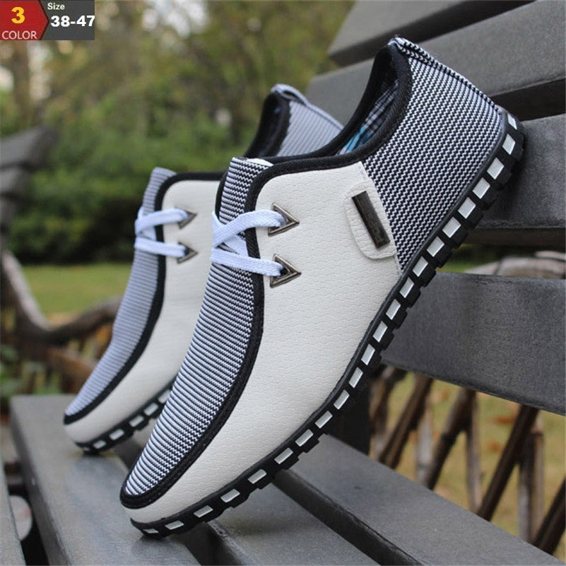 Fashion Driving Shoes Men Flats Slip On Loafers italian Flat Shoes - MARI MAR SHOP