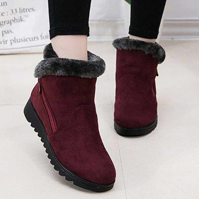 Women Non Slip Ankle Shoes Warm Snow Boots - MARI MAR SHOP