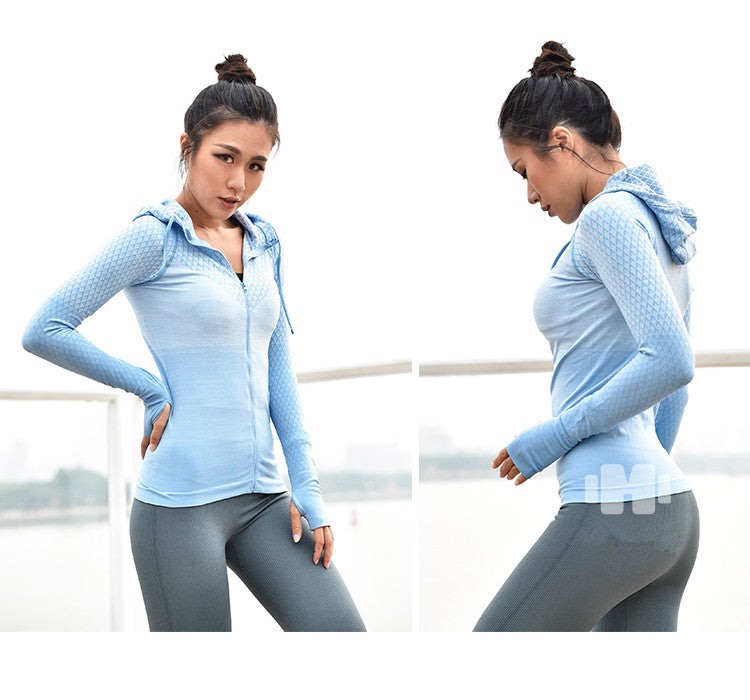 Women's Yoga Shirts Yoga Top Sportswear Quick Dry Running Jacket (wo1) - MARI MAR SHOP