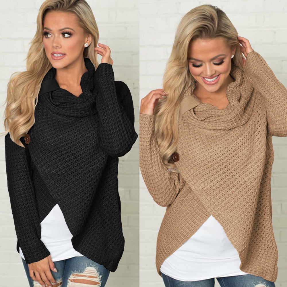 Winter Warm Sweater Women Pullover Turtleneck Knitted Sweaters Tops (wo1) - MARI MAR SHOP
