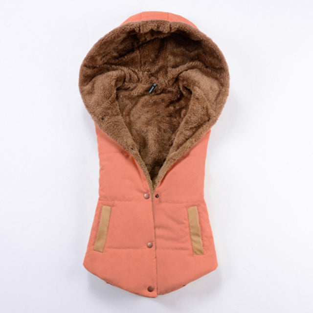 Women Casual Style Autumn Spring Coat Vest (wo1)