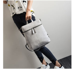 Women Leather Backpacks School Shoulder Bag