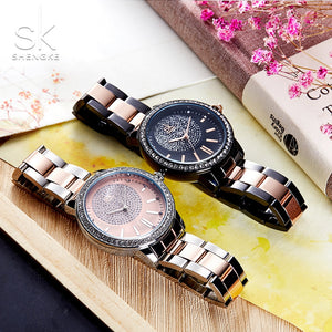 Women Quartz Crystal Luxury Wrist Watch
