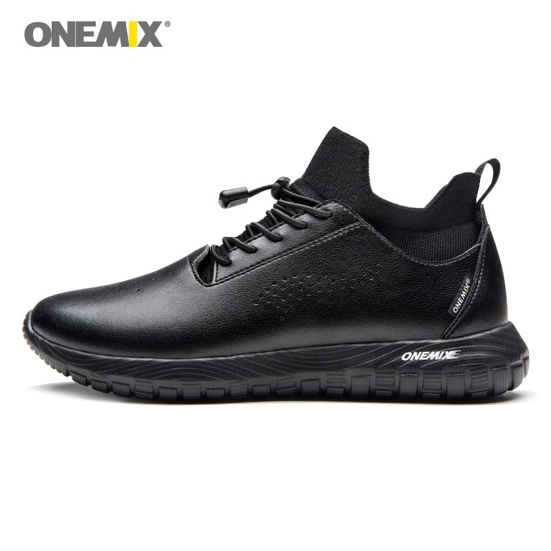 ONEMIX Sets Soft Micro Fabric Leather Light Sneakers For Outdoor Walking Jogging - MARI MAR SHOP