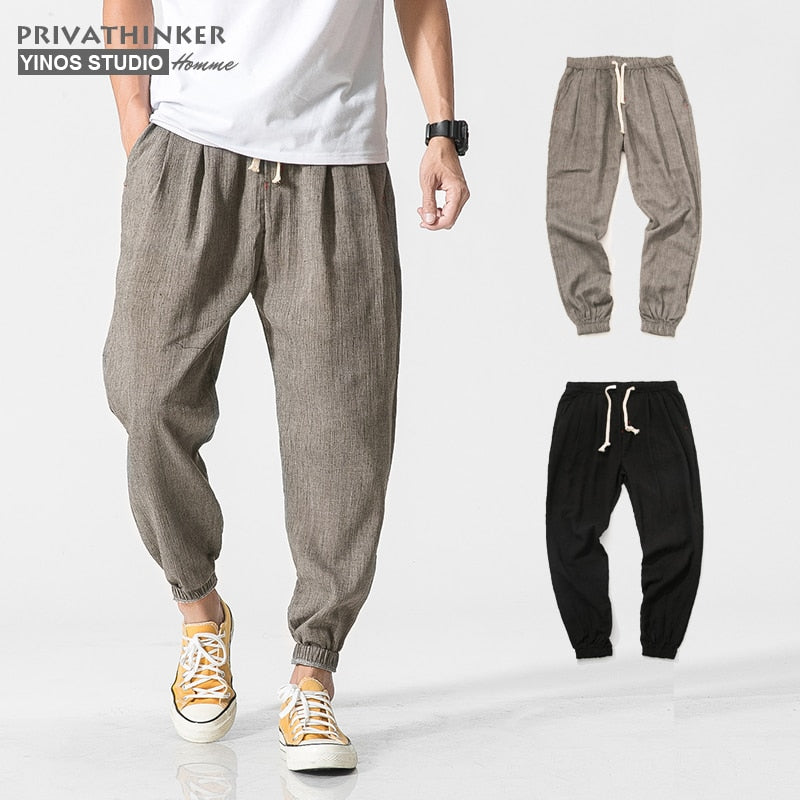 Men Jogger Pants Men Fitness Trousers Casual Harem Pants (tm1) - MARI MAR SHOP