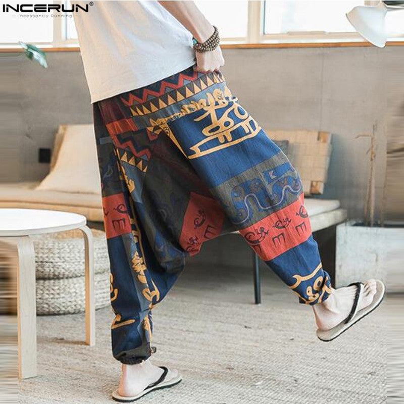 Men Women Hip Hop Aladdin Hmong Boho Casual Pants Cross-pants (wo1) - MARI MAR SHOP