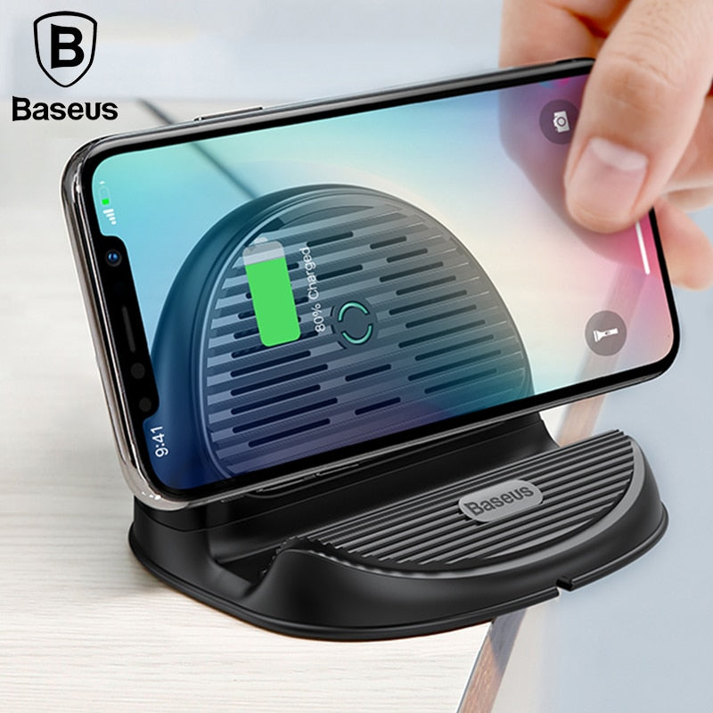 UNIVERSAL Desktop Fast  QI Wireless Charger Radiating Fan - MARI MAR SHOP