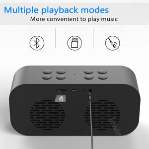 Bluetooth 5.0 Portable  Bluetooth Speaker  Subwoofer Music Sound Box LED Time Snooze Alarm Clock (cs1) - MARI MAR SHOP