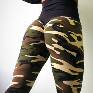 Push Up Camo Printed Pants Women High Waist Legging (wo1) - MARI MAR SHOP