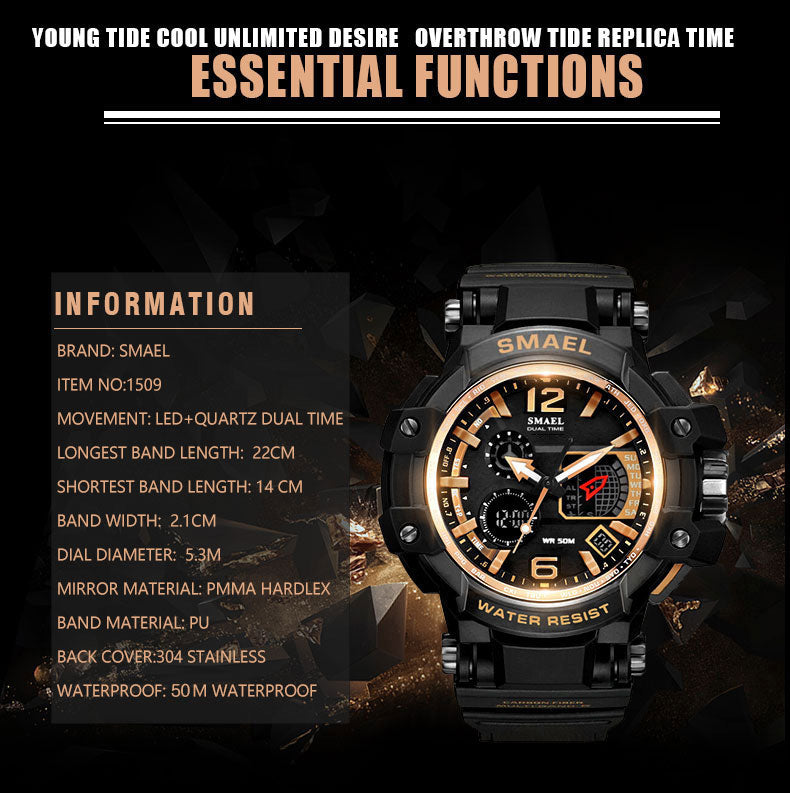 SMAEL Men S Shock Sport Watch LED Digital 50M Waterproof - MARI MAR SHOP