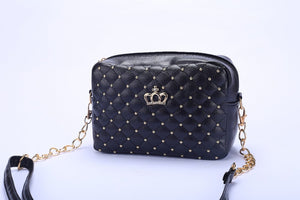 Shoulder Bag High Quality PU Leather Crossbody Quiled Crown bags - MARI MAR SHOP