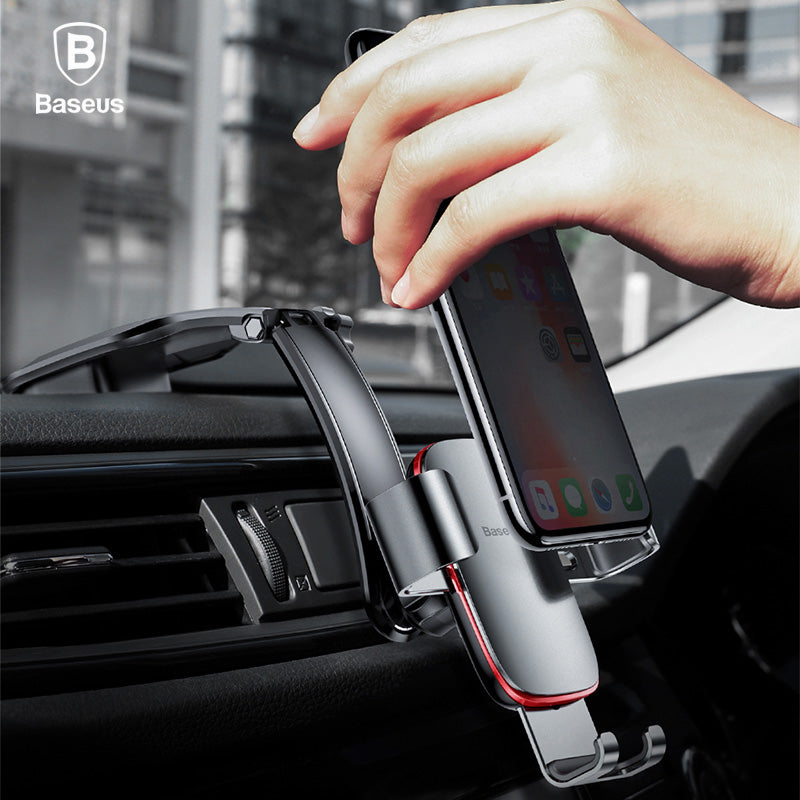 Metal Phone Holder Stand Gravity Air Vent Mount GPS Car Phone Holder (cs1) - MARI MAR SHOP