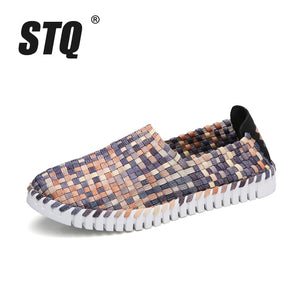 Women Woven Flat Sneakers Multi Colors Shoes - MARI MAR SHOP