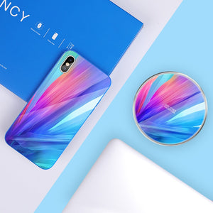 Qi Wireless Charging Pad + 3 in 1 USB Charging Cable + Phone Case for iPhone X 5.8'' (ch1) - MARI MAR SHOP