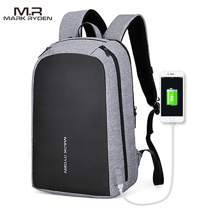 Mark Ryden Men Backpack Multifunction USB Recharging 15.6inch Laptop Bag - MARI MAR SHOP