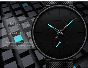 Luxury Quartz Men Casual Slim Mesh Steel Waterproof Sport Watch - MARI MAR SHOP
