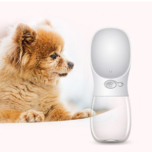 HOT SALE Portable Pet Dog Water Bottle Travel Dog  Cat Water Bowl  350/550 ML