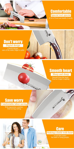 HOT SALE 7 inch Chopping Kitchen Knife Resin Fibre Handle Cleaver Cooking Accessorie - MARI MAR SHOP